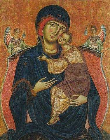 Дева Мария с Младенцем и ангелами (Мелиоре ди Якопо, 1270—1280)