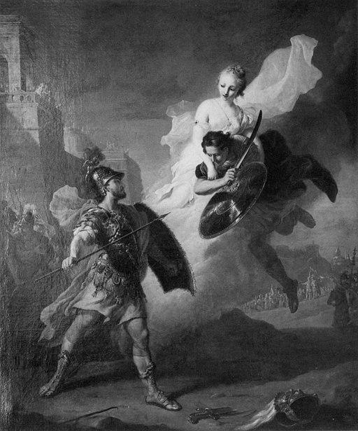 Menelaos im Zweikampf mit Paris (Tischbein)