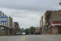 Looking west at the western downtown