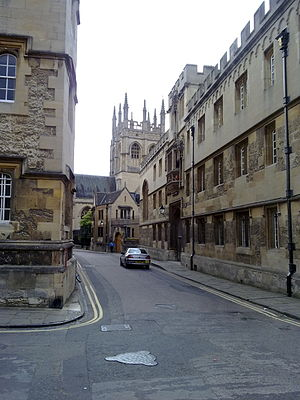 Merton Street - Image: Merton Street looking towards Merton College
