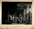 Metalwork; a blacksmith's forge. Mezzotint by J. Sharples af Wellcome V0024695.jpg