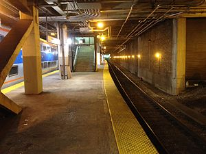 Millennium Station - One of the Metra platforms