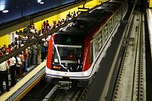 Rail transport in the Dominican Republic - Juan Pablo Duarte station of Santo Domingo Metro