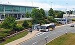 MetroX bus at Halifax airport 2018.jpg