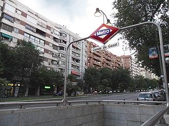 Conde de Casal (Madrid Metro) - Image: Metro de Madrid Conde de Casal 01