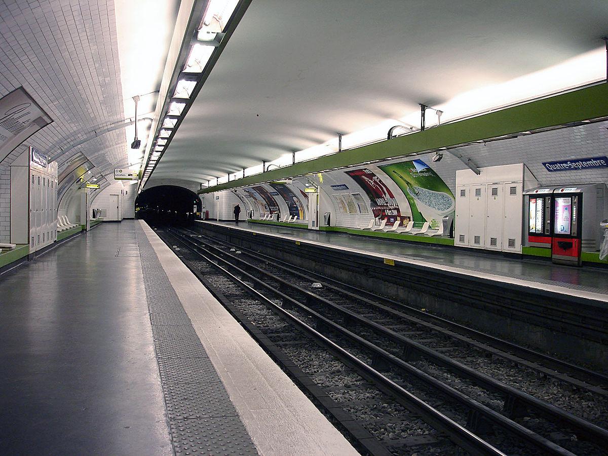 Quatre-Septembre (Paris Métro) - Wikipedia