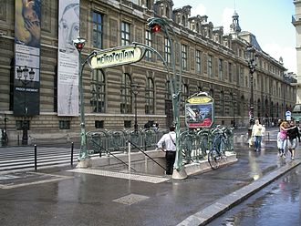 Palais Royal – Musée du Louvre (Paris Métro) - Image: Metro palais royal guimard 3