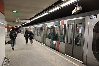 Rotterdamse Elektrische Tram - A Bombardier metro.