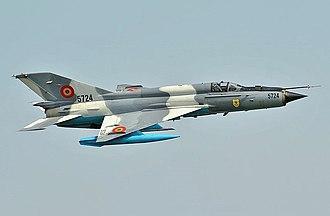 Mikoyan-Gurevich MiG-21 - Romanian MiG-21 LanceR-C in flight