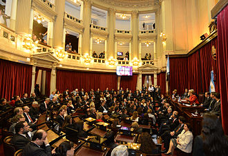Argentine Senate - Image: Michelle Bachelet at the Argentine Senate