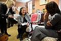 Michelle Obama, Senior Advisor Melissa Winter and Chief of Staff Tina Tchen, 2015.jpg