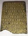 Michelozzo, epigrafe del munumento aragazzi, 1437-38, montepulciano, palazzo vescovile.JPG
