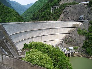 Midono Dam Dam in Nagano Prefecture, Japan