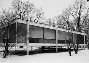 Oxide jacking - Oxide jacking damage was discovered after a flood at the Farnsworth House.