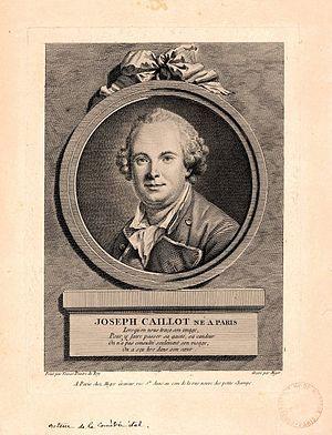 Joseph Caillot - Joseph Caillot, engraving by Simon Charles Miger (c. 1770).