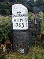 Milestone near Handsome Cross on Penistone Road - geograph.org.uk - 111334.jpg