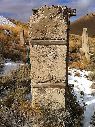 History of Nevada - Ruins of an early 20th-century mill, Winnemucca Mountain