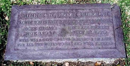 Riperton's grave at Westwood Village Memorial Park Cemetery Minnie Riperton grave.jpg