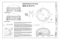 Minter System Brick Kilns, Elevations, Section and Plan - Jenkins Brick Company, Plant No. 2, Furnace Street, Montgomery, Montgomery County, AL HAER AL-185 (sheet 8 of 12).png