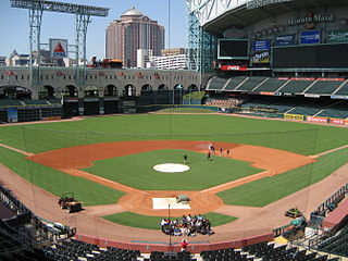 Baseball stadium in Houston, TX, US