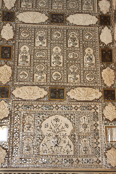 File:Mirror Palace details Amber Fort.jpg