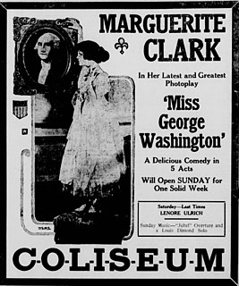 <i>Miss George Washington</i> 1916 film by J. Searle Dawley
