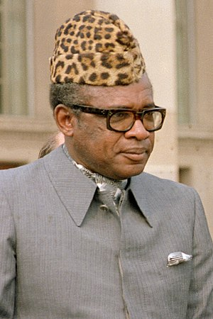 Zaire - Mobutu was the president of Zaire from 1965 to 1997.