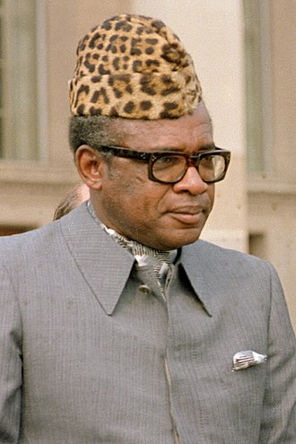 Mobutu Sese Seko - Mobutu at the Pentagon on 5 August 1983