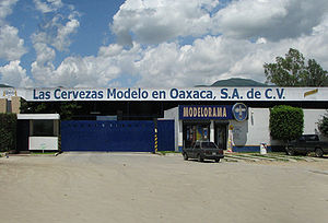 Beer in Mexico - A Grupo Modelo distribution center in the state of Oaxaca