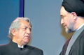 Mohammad Khatami and Ezzatolah Entezami -Commemoration of Elders- January 21, 2002.png