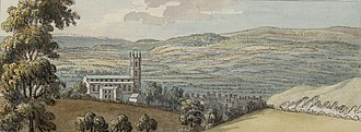 Mold, Flintshire - A view of Mold c.1778