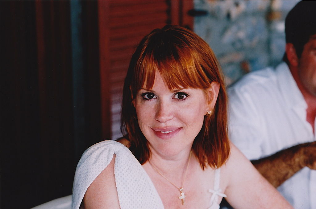 The 49-year old daughter of father Robert Ringwald and mother Adele Edith Frembd, 173 cm tall Molly Ringwald in 2017 photo