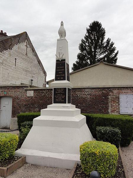 Monceau-lès-Leups (Aisne) monument aux morts