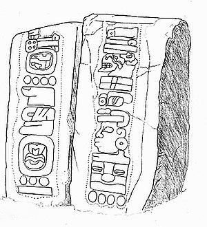 Mesoamerican calendars - Image: Monte Alban Stela 12 & 13