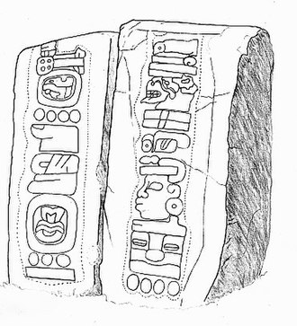 Mesoamerican calendars - Stelae 12 and 13 from Monte Alban, provisionally dated to 500-400 BCE, showing what is thought to be one of the earliest calendric representations in Mesoamerica.