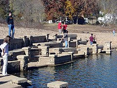 Monte Ne Amphitheater during low lake levels.jpg