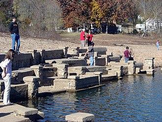 Monte Ne - The partially submerged Monte Ne Amphitheater