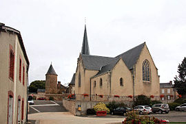 The church of Saint Georges, in Montigné-le-Brillant