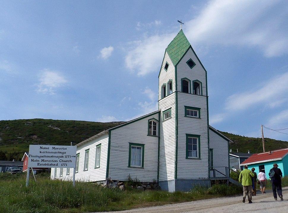 Moravian Church, Nain, NL, exterior