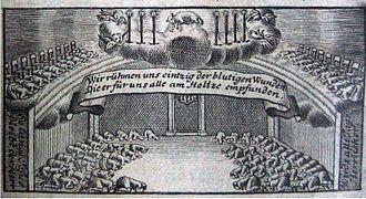 Proskynesis - Moravian proskynesis in 1735.