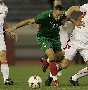 Houssine Kharja - Kharja with Morocco in their friendly against Czech Republic on 11 February 2009.