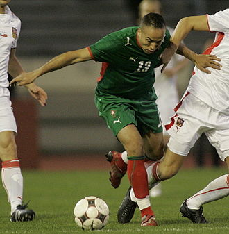 Houssine Kharja - Kharja with Morocco in their friendly against Czech Republic on 11 February 2009.
