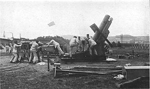 Mortier de 280 modèle 1914 Schneider - Ready for firing