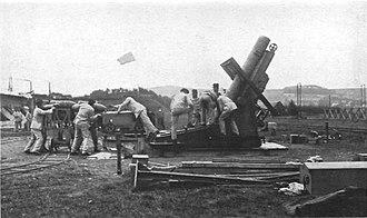 Mortier de 280 modèle 1914 Schneider - Ready for firing