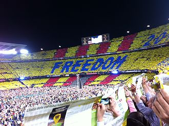 Assemblea Nacional Catalana - Concert for Freedom at Camp Nou, on 29 June 2013.