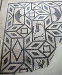 Mosaico bicromo da triclinium terza domus dell'ex-vescovado di rimini, fine I-inizio II sec..JPG