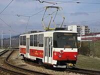 Tatra T5B6 v Mostě-Velebudicích (2006)
