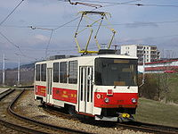 Most, Velebudice, Tatra T5B6.jpg