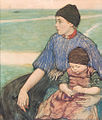 Mother and Child, Volendam, watercolor and pastel by Charles W. Bartlett, c. 1912.jpg