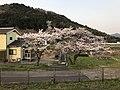 Mount Konoosan from platform of Naka-Yamaga Station.jpg